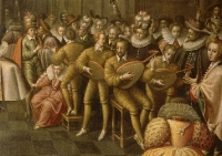 1581 - Bal donné au Louvre en présence d'Henri III et de Catherine de Médicis pour le mariage d'Anne, duc de Joyeuse et de Marguerite de Lorraine-Vaudémont