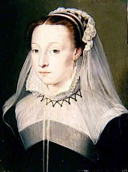 1596 (approx) - unknown woman, previously said to be Antoinette d'Orleans - school of Clouet