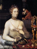 1590 - Diana at the Bath - by MASTER of the Fontainebleau School