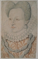 date unknown - Portrait de Marguerite de VALOIS (la reine Margot) - artist unknown