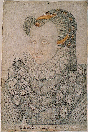 date unknown (likely late 16th cent) - Portrait de Claude de ROHAN-GIE baronne de THOURY -