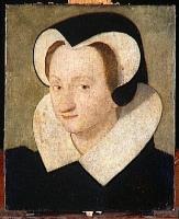 1580 - Portrait de femme en coiffe de veuve - unknown artist