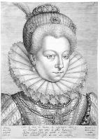 1600 - Portrait of Henriette de Balzac d'Entraigues, Marquise de Verneuil - Wierix