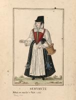 1586 -Servante allant au marché à Paris